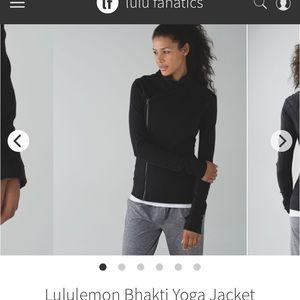 Lululemon Bhakti yoga jacket in black size 4
